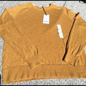 NWT Goodfellow & Co Mustard Gold Crew Sweater
